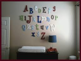 Abc Nursery Decor Wooden Wall Letters Wooden Alphabet Letters Abc Nursery Decor