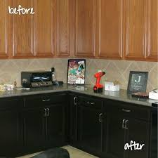 staining kitchen cabinets before and after staining oak cabinets with gel stain granite countertops