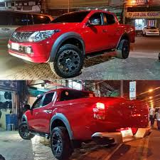 mitsubishi strada 2016 mitsubishi strada with black rhino atoy customs 4x4 and