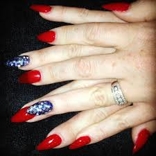4th of july stiletto nails nails by me pinterest