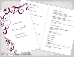 catholic wedding programs catholic wedding program template sangria scroll programme booklet