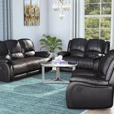 Leather Recliner Sofa Set Deals Reclining Living Room Sets You Ll