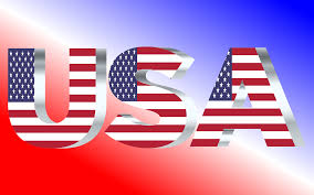 United Staes Flag Clipart Usa Flag Typography Silver