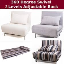 Junior Futon Sofa Bed Modern Futon Single Sofa Chair Bed Metal Frame 360 Swivel