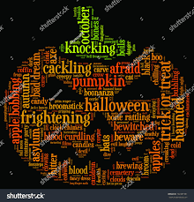halloween witch backgrounds halloween word cloud illustration shape orange stock illustration