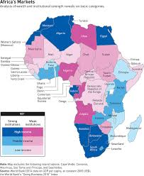 africa map in a new map for business in africa