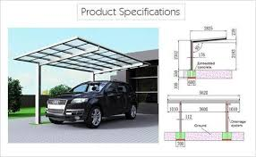Metal Awnings For Sale Metal Car Canopy Prefab Flat Roof Patio Sunshield Single Carport