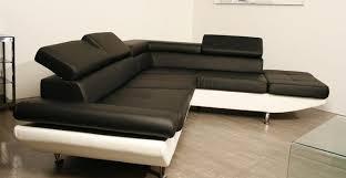 canapé d angle noir et blanc pas cher housse de canape d angle pas cher 10 canap233 angle noir simili