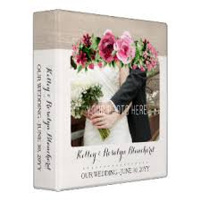 Rustic Photo Album Vintage Wedding Album Custom Binders Zazzle