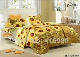 Sunflower Bed Set 2013 Free Shipping Sunflowers Printed Cotton King 4pcs