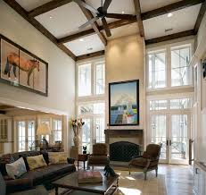 2 story living room lowcountry residence