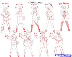 animes girls clothes draw step 8 how to draw pretty girls draw