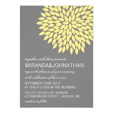 wedding invitations jackson ms yellow gray flower design wedding invitation superdazzle