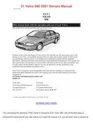 100 repair manual volvo s60 2001 2001 volvo s60 t5 track