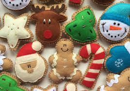 felt cookie tree ornaments
