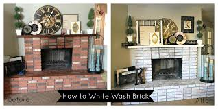 How To Whitewash Interior Brick How To White Wash Brick Classy Clutter