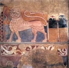 wall painters file 12th century unknown painters lion wall painting wga19759