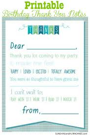 remarkable and printable kids thank you cards with blue fonts