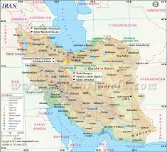 Dubai On Map Map Of Iran Iran Map