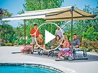 Freestanding Awning Sunsetter Oasis Freestanding Awning Retractable Deck And Patio