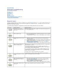 Dell Diagnostic Lights Dell Dimension 8250 User Manual