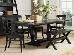 6 pc dining table set black dining room set with bench 6pc dining set rectangle wooden