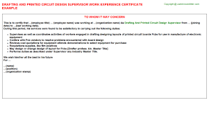 Certification Letter For Name Change Drafting And Printed Circuit Design Supervisor Work Experience