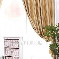 and gold striped toile blackout contemporary fabric curtains