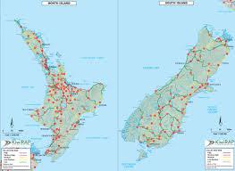 Map New Zealand New Zealand Driving Map Deboomfotografie