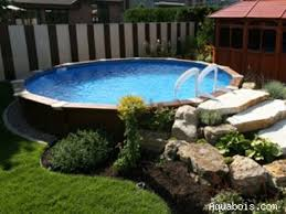 Landscaping Around A Pool by Best 25 Ground Pools Ideas On Pinterest Above Ground Pool Decks