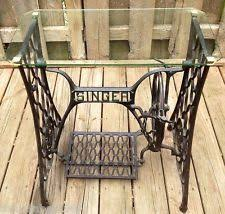 cast iron glass table antique singer cast iron treadle base sewing machine glass top table