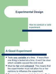 good experimental design experimental design4425 dependent and independent variables
