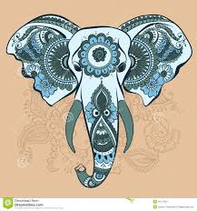 vector elephant on the henna indian ornament stock vector image