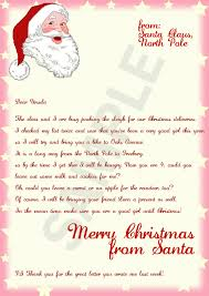 official letters from santa letter from santa envelope template