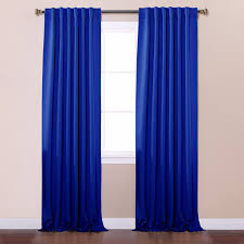 com best home fashion thermal insulated blackout curtains back tab rod pocket royal blue 52 w x 96 l tie backs included set of 2 panels