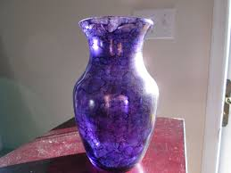 Stained Glass Vase Housewarming Vase Gift Housewarming Gift Purple Stained Glass