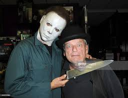 actor raymond oconnor with michael myers at the signing for entire picture id456019248