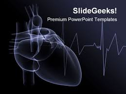 heart design for powerpoint heart x ray medical powerpoint template 1110 powerpoint