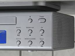 ur2050si under cabinet fm cd player kitchen radio silver