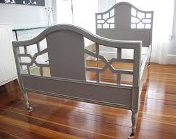 Twin Bed Headboard Footboard Blue Lamb Furnishings Gray Vintage Twin Bed Frame Sold
