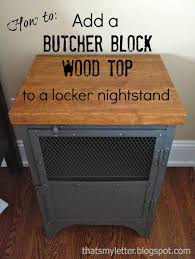 Metal Locker Nightstand How To Add A Butcher Block Top To A Locker Nightstand Jaime