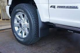 Vintage Ford Truck Mud Flaps - 2017 superduty weather tech mud flaps installed ford truck