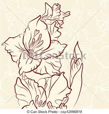 free clipart of gladiolas clipart collection flower gladiolus
