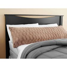 mainstays tan bamboo fur body pillow cover walmart com