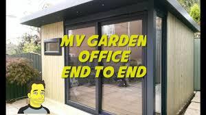 Office Garden Shed My Garden Office Garden Room Summer House Build End To End Mancave