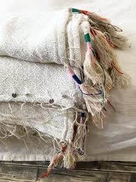 Woven Throw Rugs Colourful Tassel Vintage Cotton Woven Throw Blanket Rug Boho