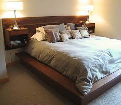 headboard with built in bedside tables broad selections of wall mounted headboards homesfeed