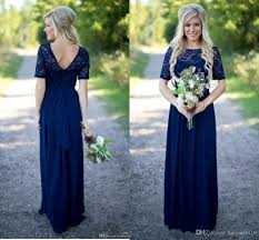 2018 country bridesmaid dresses hot for weddings navy blue