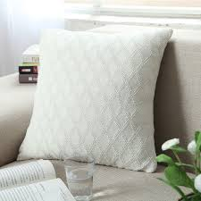 Indoor Sofa Cushions by Furniture Dazzling Square Shape White Animal Print Decorative