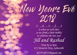 Invitation Card For Reunion Party New Year U0027s Eve Party Invitations 2018